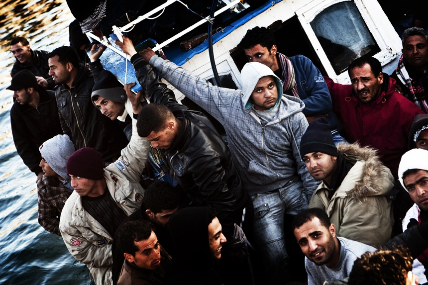 Illegal Immigration Crisis in Lampedusa