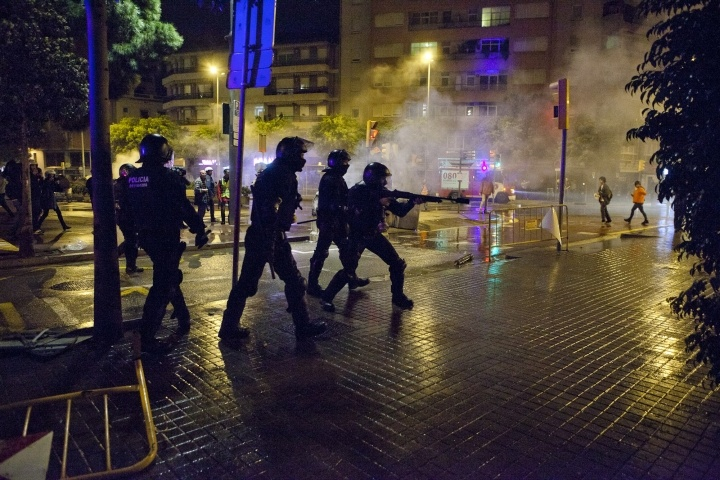 Can Vies 2014 riots in Barcelona