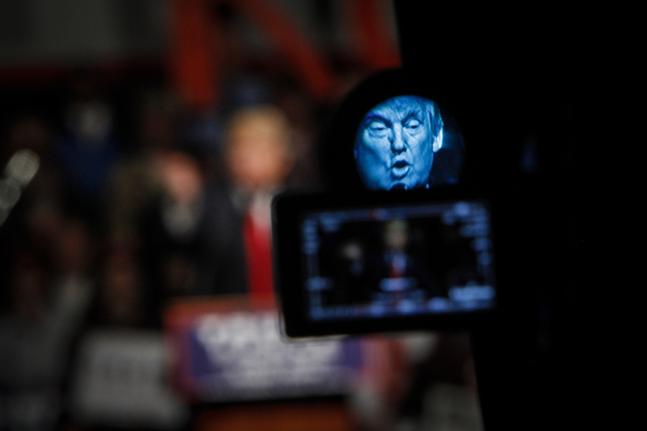 Trump campaigning, shot for Getty