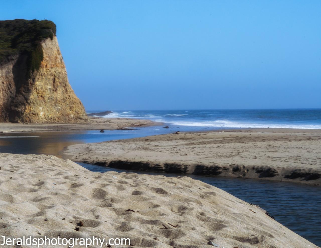 California coast around Santa Cruz