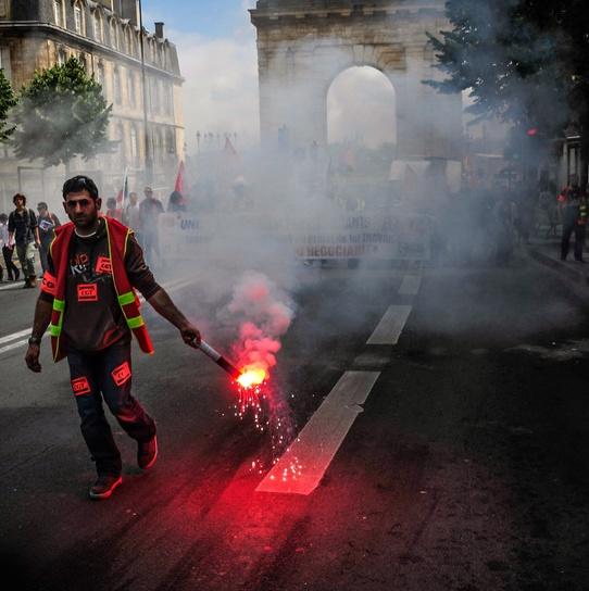 Demonstration in Bordeaux