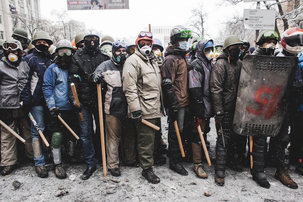Pro European demonstrators in Kev, Ukraine.
