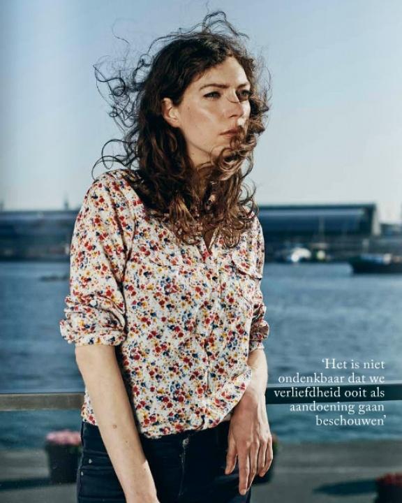 portrait of Dutch writer Hanna Bervoets