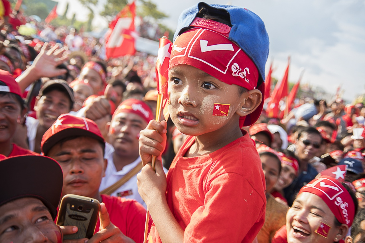 A young National League of Democracy supporter.