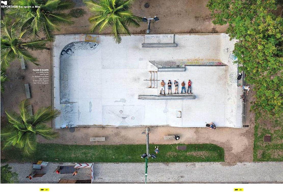 Rio de Janeiro's sportlife with a drone