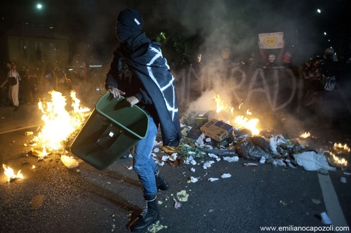 Riots against World Cup, Sao Paulo, Brazil