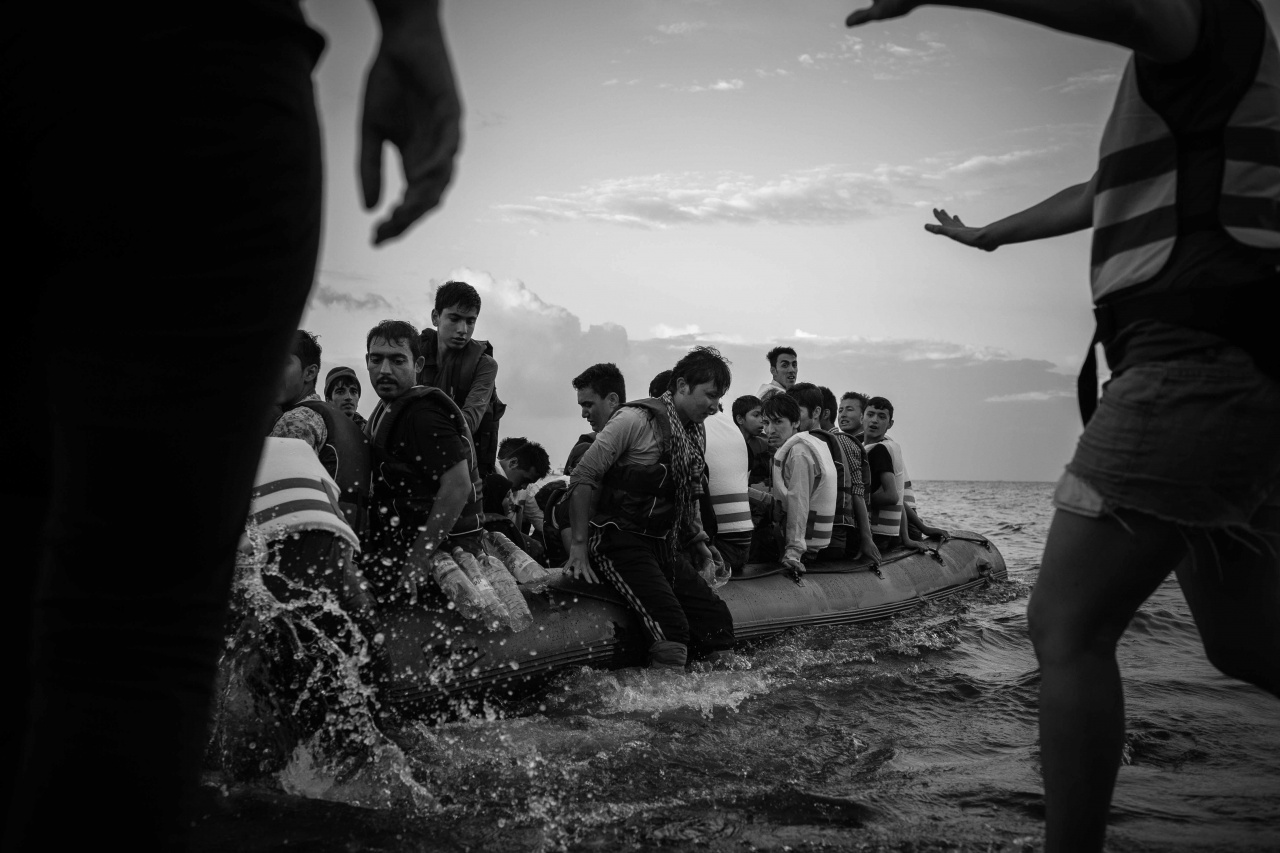 Refugees arrive in Lesbos. 2015