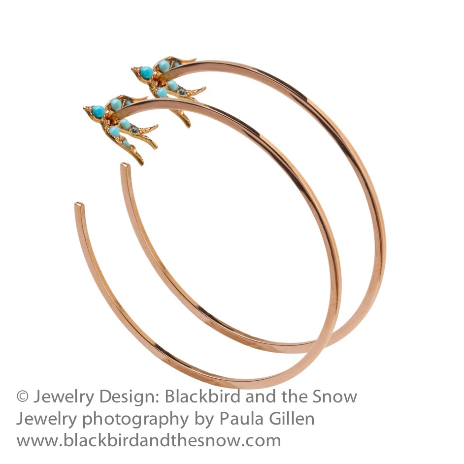 Jewlery Photography for Blackbird and the Snow