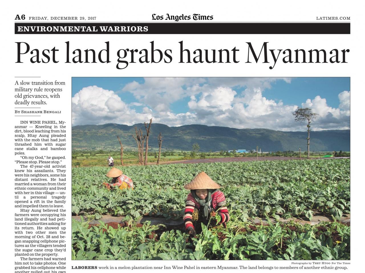 Past land grabs hunt Myanmar