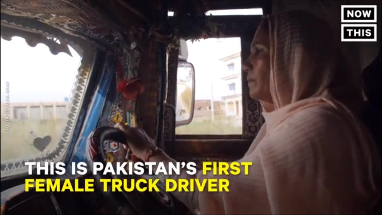Pakistan first female truck driver