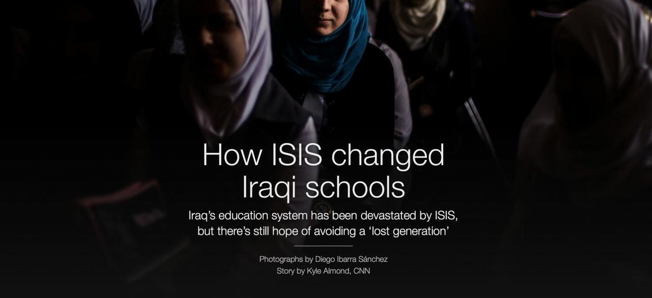 Hijacked education in Iraq on CNN