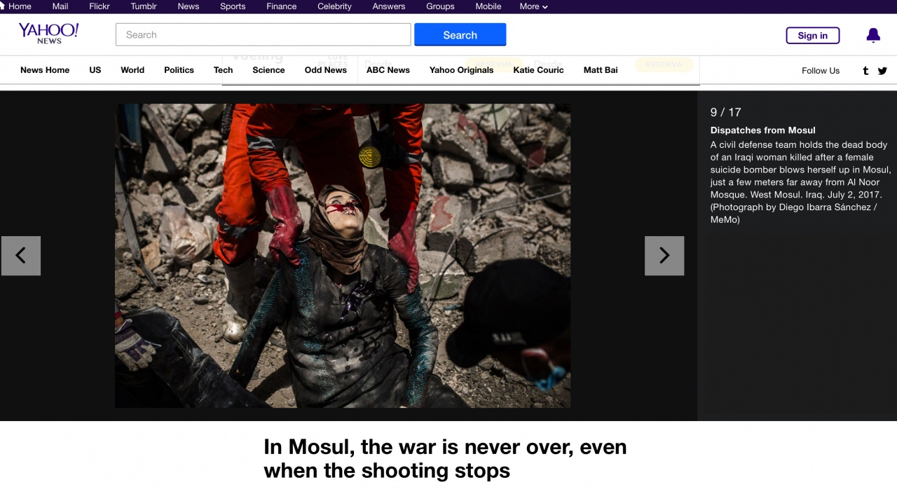 Dispatches from Mosul on YAHOO NEWS