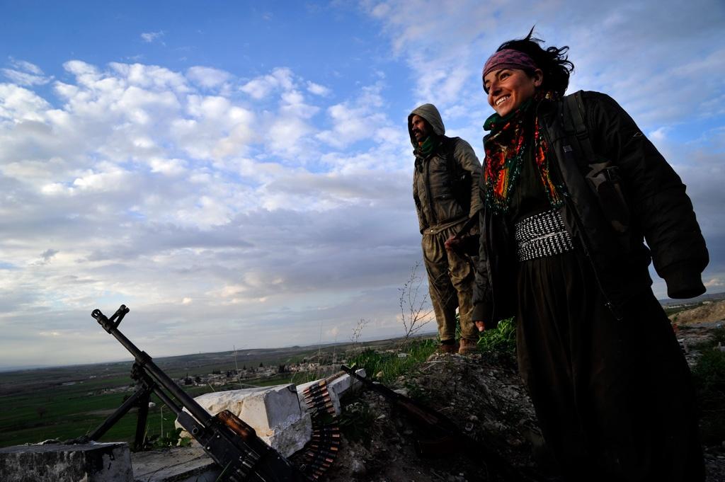 in liberated kobane