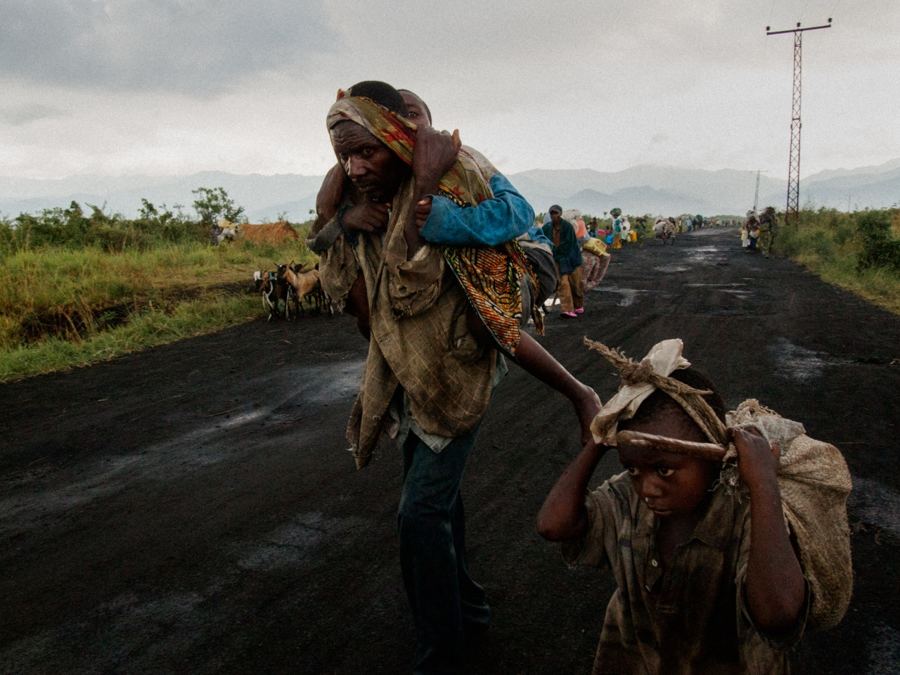 IDP's escaping conflict in North Kivu