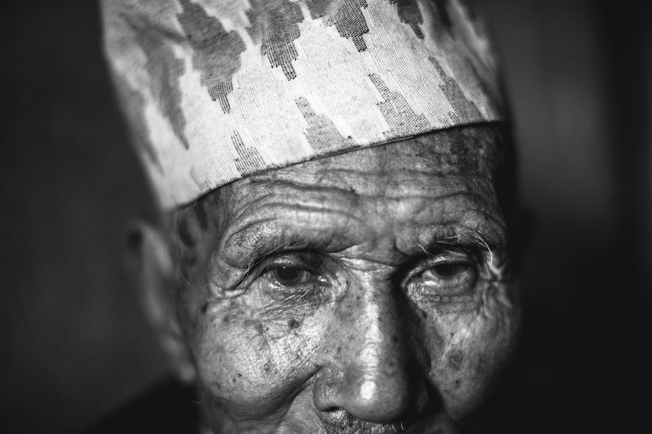 Indra Bahadur Baram in Arupokhari, Nepal.