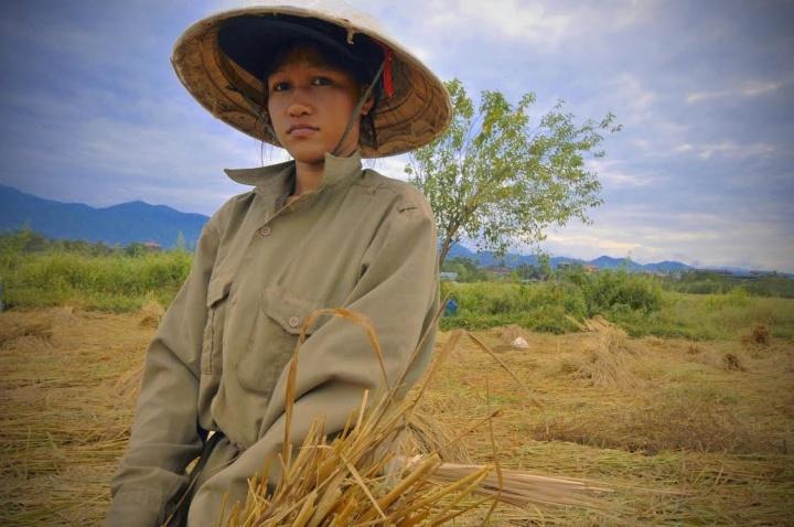 Vang Vieng  - Woman in Field
