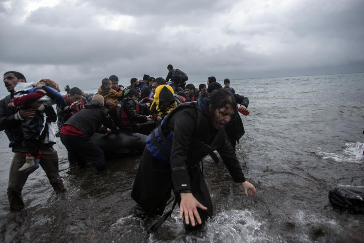Lesbos Island, Greece, October 22, 2015.