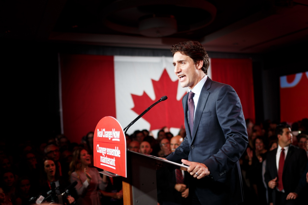 Election night 2015 in Canada