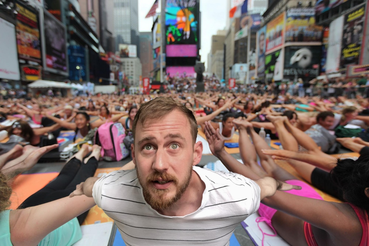 Yoga at the Times Square