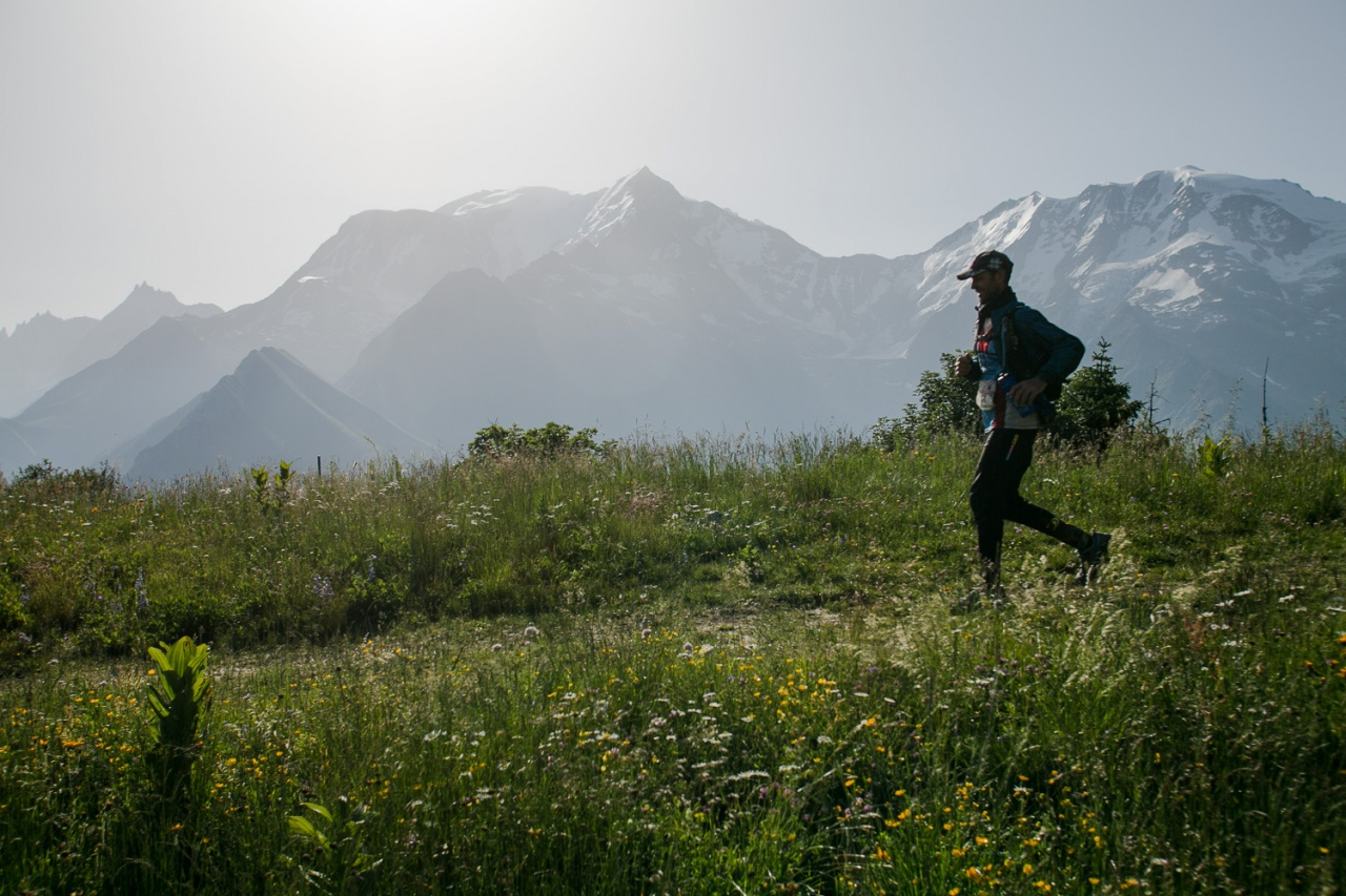 Trail Running by the Mont Blanc