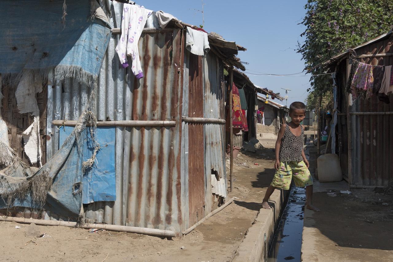 Sittwe, Myanmar Rohingya IDP camps