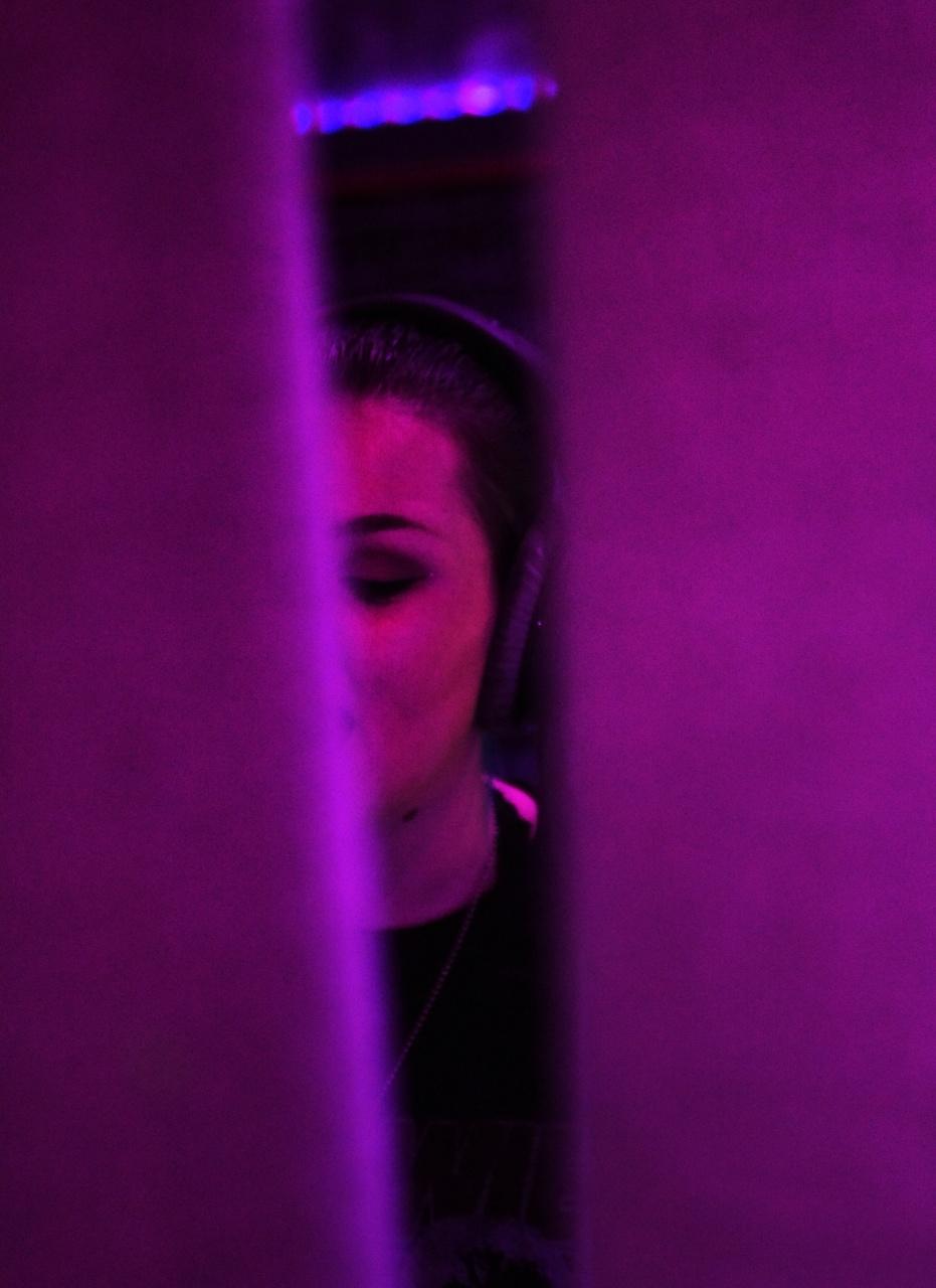 Alora in the recording studio