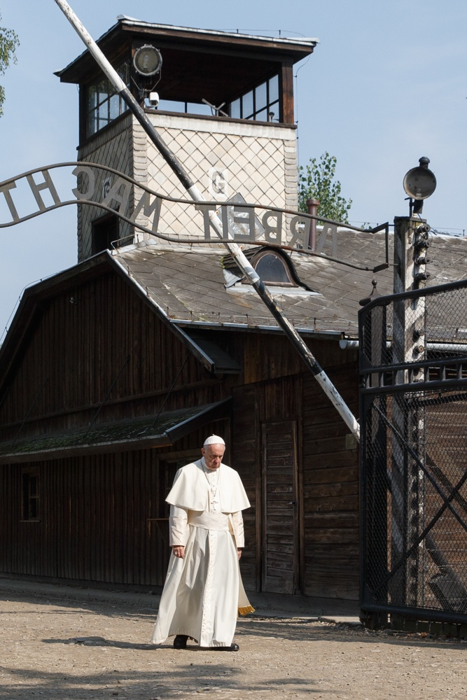Pope Francis in Auschwitz death camp