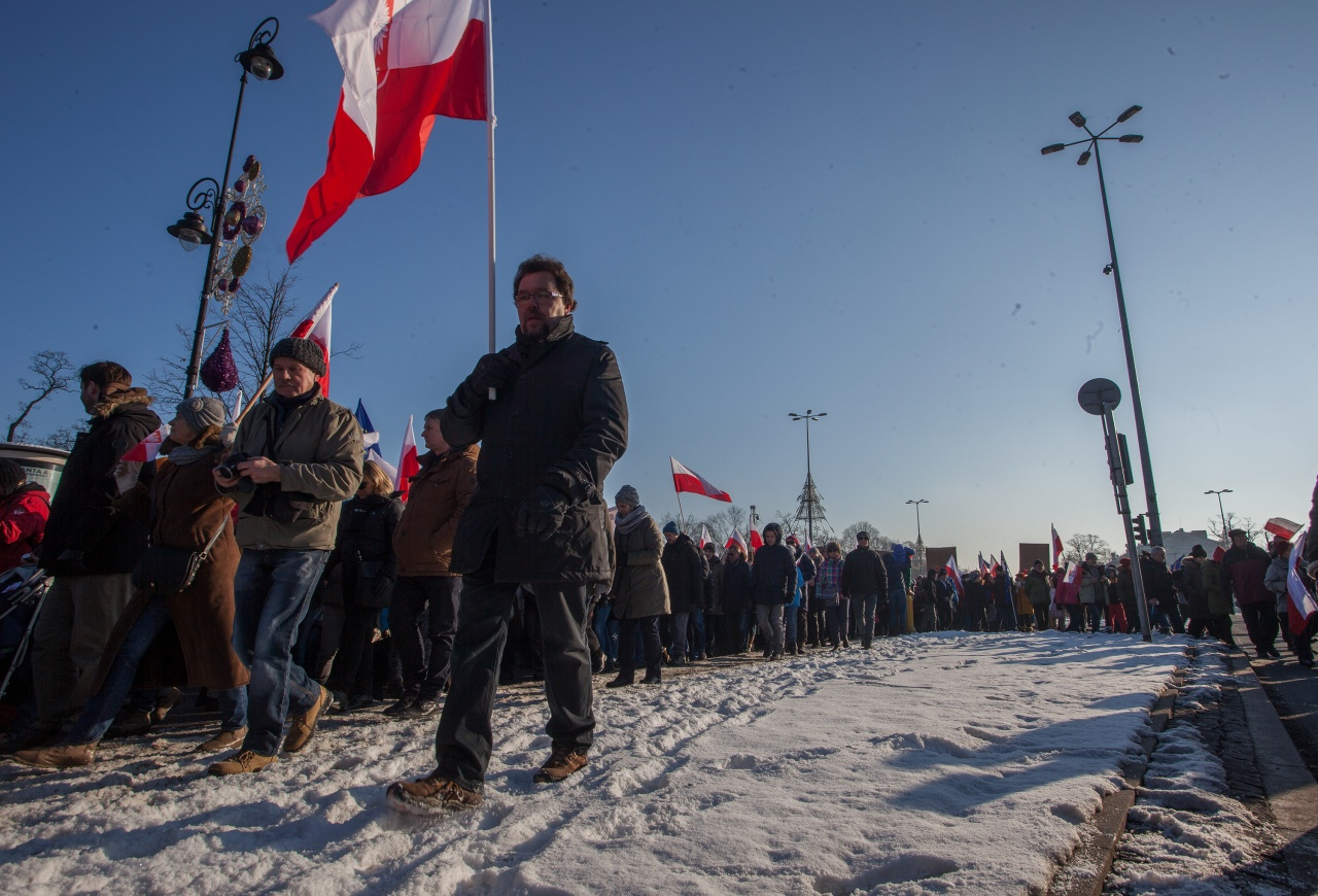 Anti-government rally in Warsaw