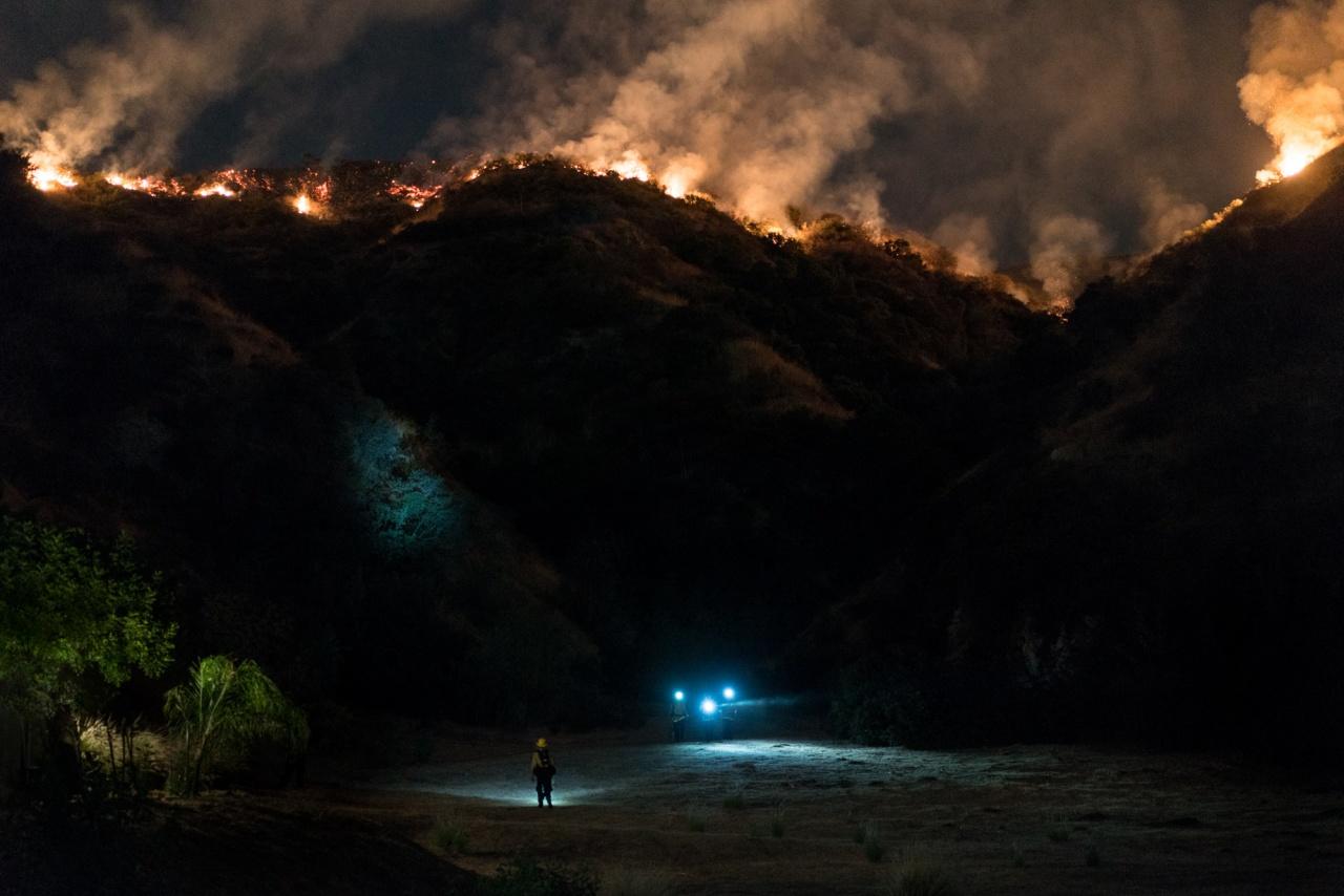La Tuna Canyon Wildfire for NY Times