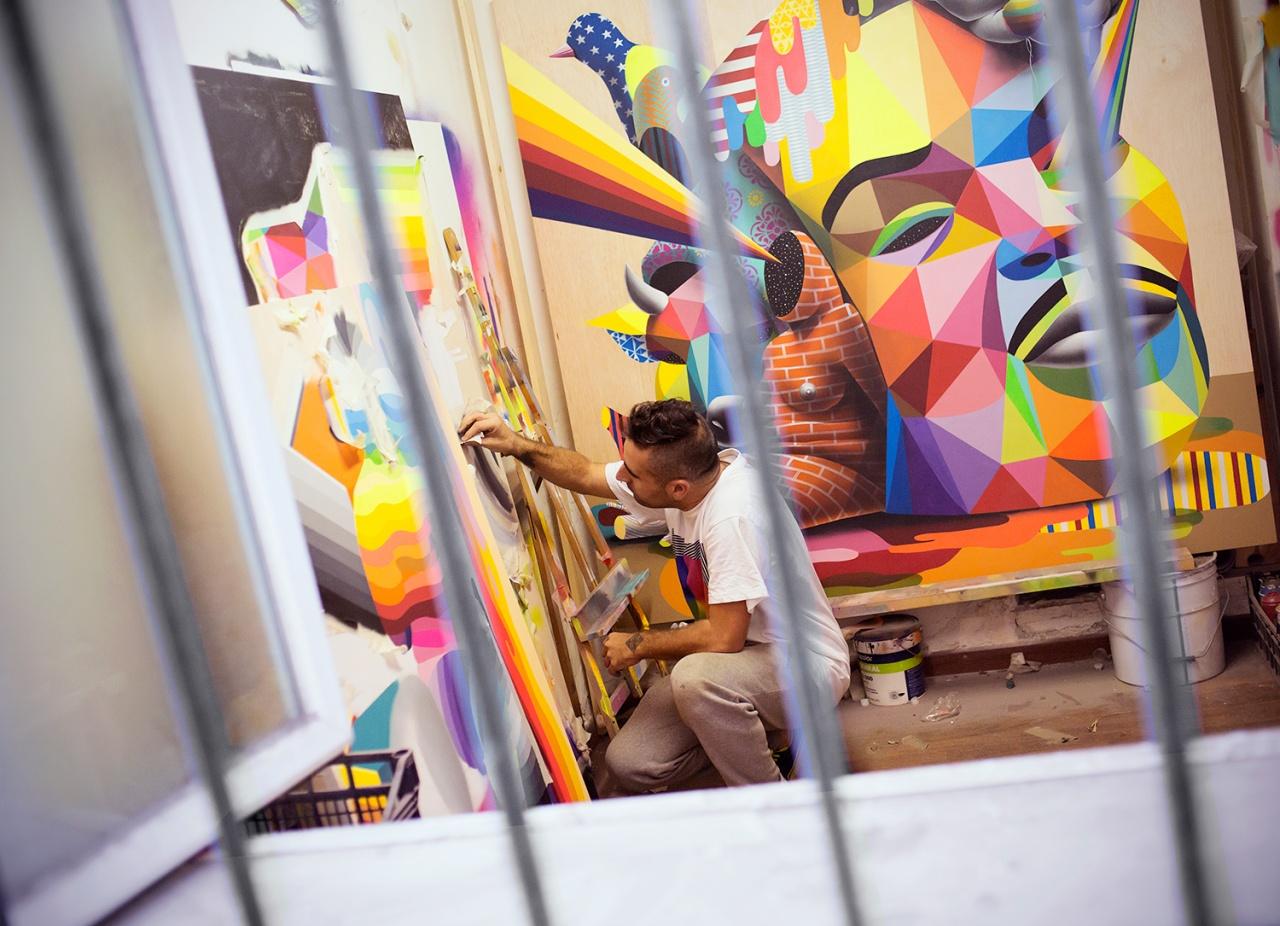 Okuda San Miguel, Spanish Artist