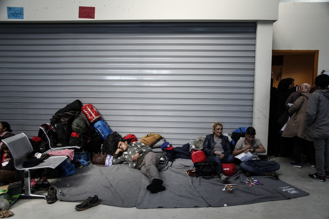 Refugees and migrants stranded at the port Piraeus