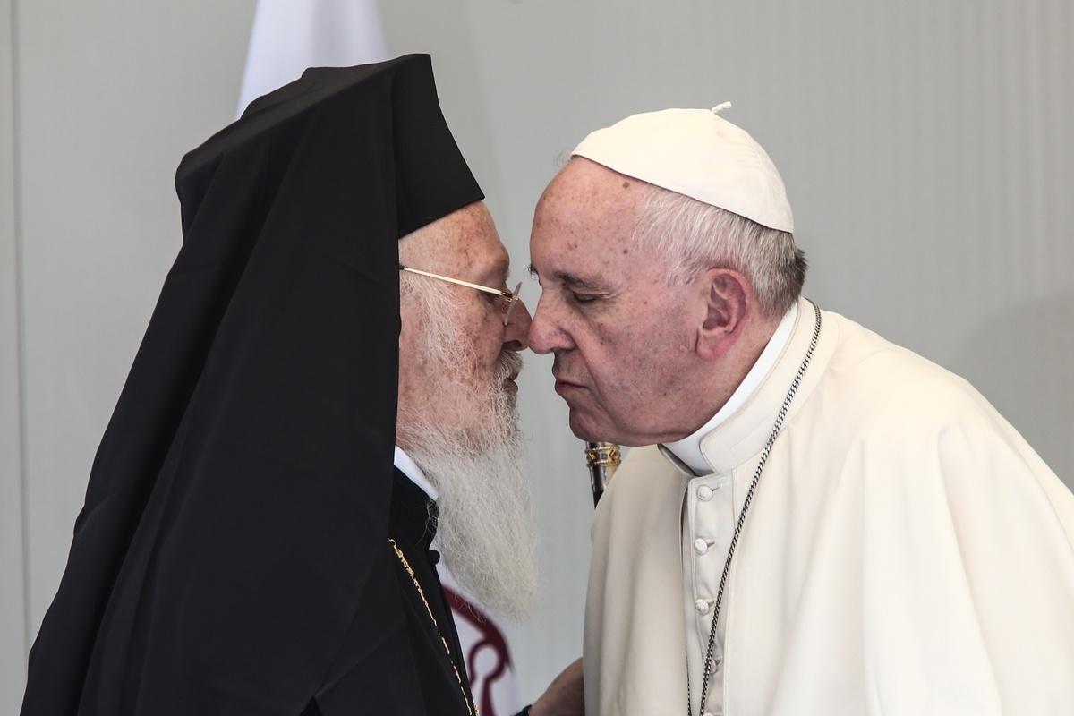 Pope Francis visits Moria Refugee Camp, Lesbos
