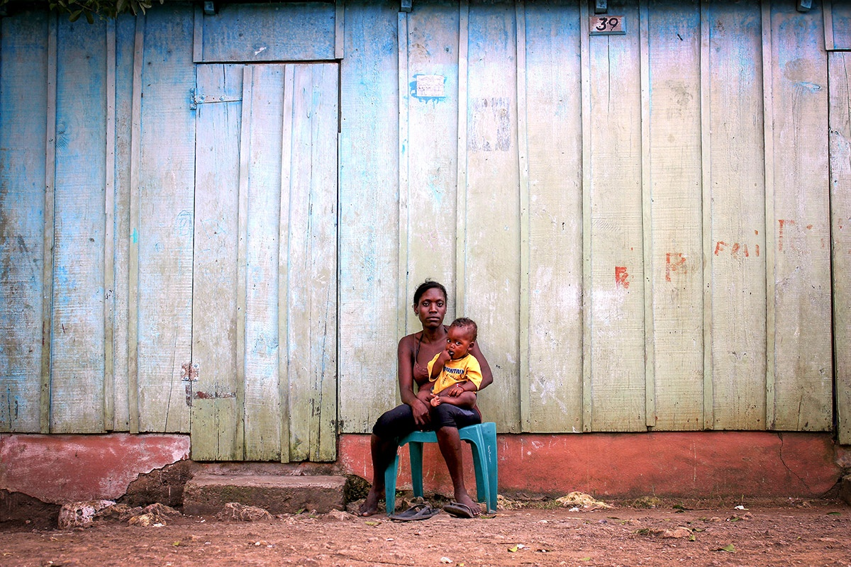 Mother & son in batey