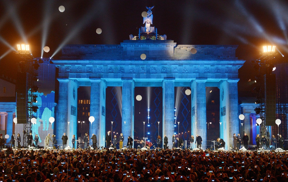 25 years celebration fall of the Berlin Wall