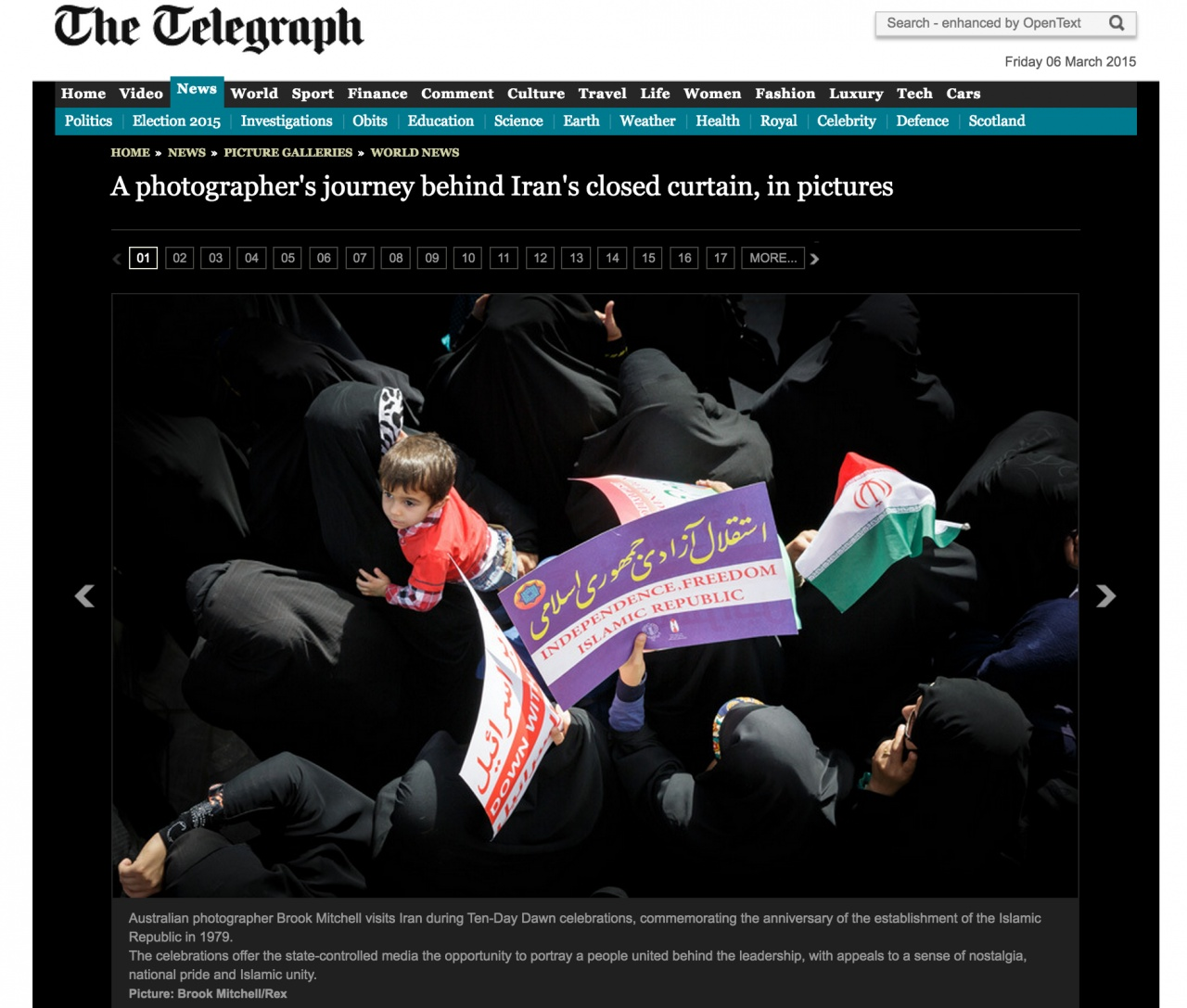 Iran Editorial for the Telegraph (UK)