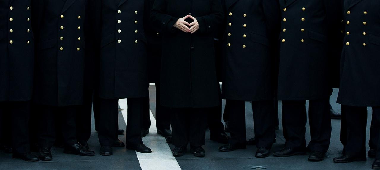 Merkel at german marine
