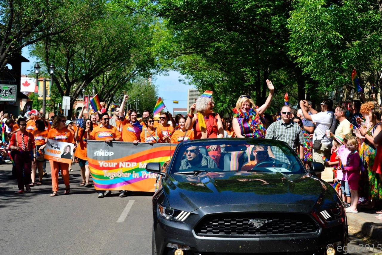 Sea of Orange opens Edmonton's 2015 Pride Parade.