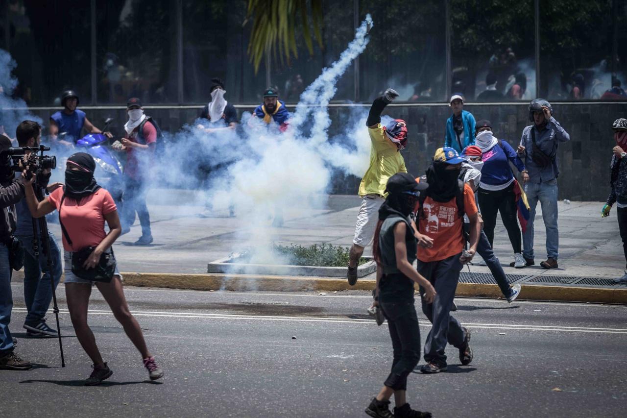 Marchas opositoras en Venezuela