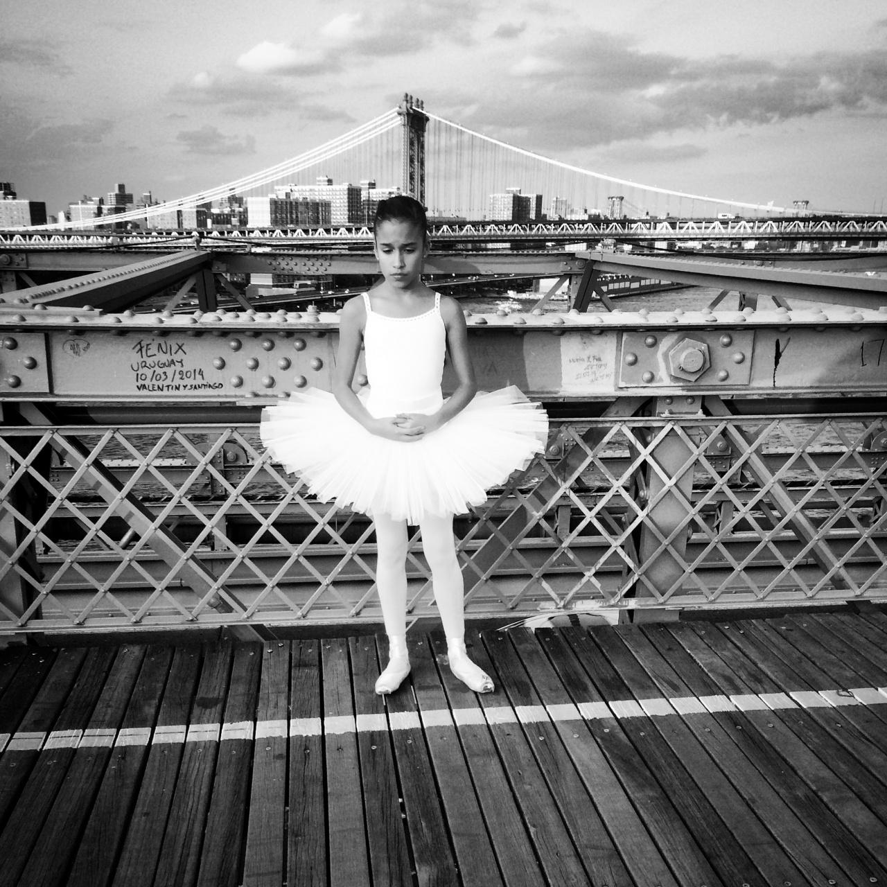 Ballerina Brooklyn Bridge